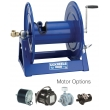 1125-6-100 Manual and Motor Rewind for 45m of 19mm for Air, Water, Oil & Fuel hose