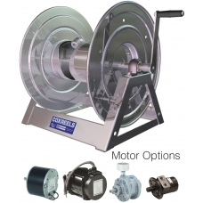1125-5-100-SS Manual and Motor Rewind for 61m of 12mm for Air, Water, Oil & Fuel hose