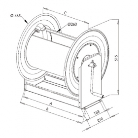 TE-STKi2 40/24   Manual Rewind for 33m of 25mm for Air, Water, Oil & Fuel hose