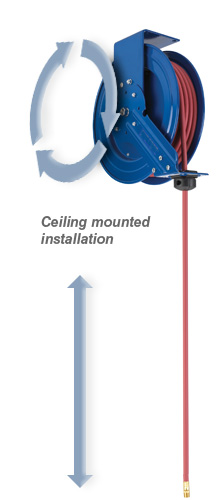 typical ceiling mount installation